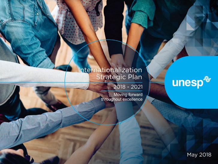 Banner do Plano Estratégico de Internacionalização da Unesp