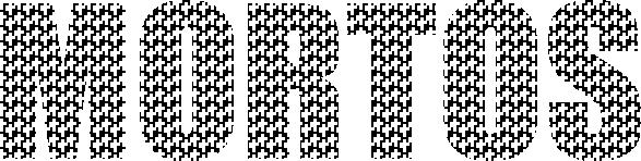 O texto 'mortos' composto por pequenas cruzes